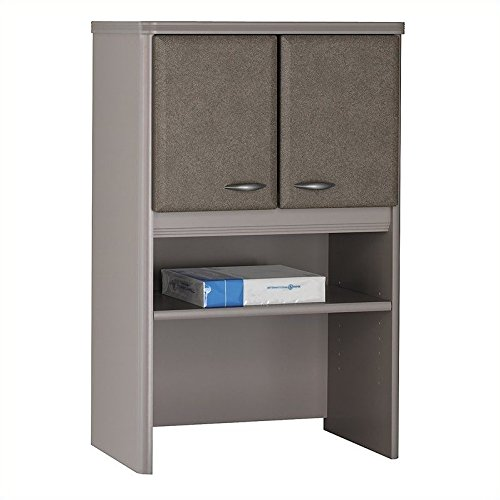 Bush Business Furniture Series A Collection 24W Hutch in Pewter by Bush Business Furniture