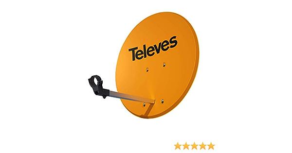 Antena Parabólica Televes 630 de Aluminio Naranja