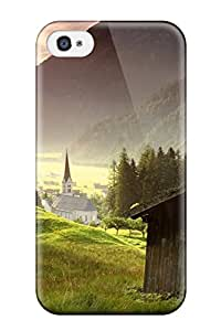 Tpu Case Skin Protector For Iphone 4/4s Mountain Earth With Nice Appearance 2103701K26029172