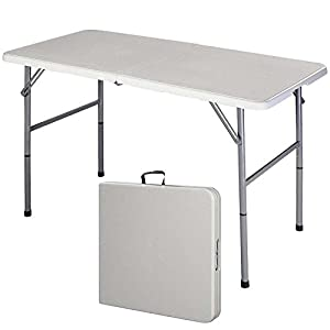 4' Folding Table Portable Multipurpose Indoor Outdoor Picnic Party Dining Camp Tables Utility To Saves Space And Time