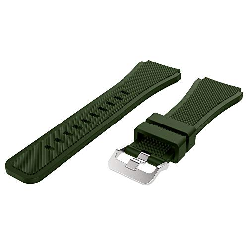 Price comparison product image HighlifeS Soft Silicone Watch Band Replacement Band Strap for Samsung Galaxy Watch 46mm (Army Green)