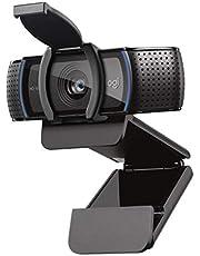 Logitech C920S HD Pro Webcam, Videosamtal i 1080p, HD-autofokus och ljuskorrigering, Stereoljud med dubbla mikrofoner, Betraktningsvinkel: 78°