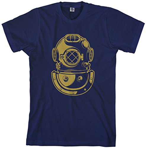 Navy Deep Sea Diver - Threadrock Men's Deep Sea Diver Helmet T-Shirt L Navy