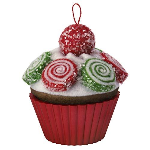 Hallmark Keepsake Ornament 2019 Year Dated Christmas Cupcakes Pinwheel Sweetness Fabric, ()
