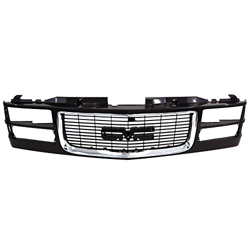 (Titanium Plus Autoparts, 1994-2000 Fits For GMC C&K Pickup | 1997-1999 GMC Suburban GRILLE DUAL HEAD LAMP)