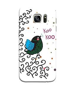 ColorKing Samsung S7 Edge Case Shell Cover - Bird Kookoo Multi Color