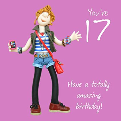 Amazon Holy Mackerel 17th Birthday Card Youre 17 Have A