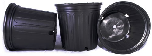 50 NEW Plastic Nursery 2 Gallon Trade POT ~ Actual Volume: 1.593 Gallons by Nursery Supplies by Nursery Supplies
