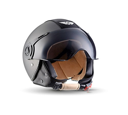 MOTO H44 Vintage Titan · Biker Scooter-Helmet Chopper Jet-Helmet Mofa...
