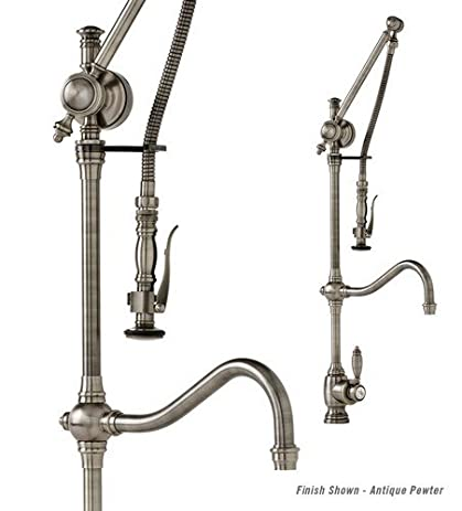 Waterstone 4400ORB Traditional Hook Spout Gantry Faucet, Oil ...