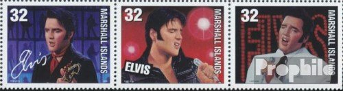 Marshall-Islands 945-947 Triple Strip (Complete.Issue.) 1998 Elvis Presley (Stamps for Collectors) Music/Dance ()