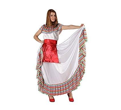 Atosa-49977 Atosa-49977-Disfraz Mejicana-Adulto XL-Mujer 49977 Color Blanco