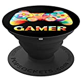 Cool Game Controller Video Gamer Boys Girls Gaming Gift - PopSockets Grip and Stand for Phones and Tablets