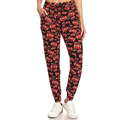 Leggings Depot Premium Women's Joggers Popular Print and Solid High Waist Track Yoga Full Length Pants(S-XL) BAT1: Clothing