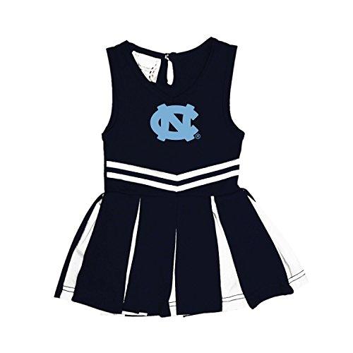 North Carolina Tar Heels NCAA Newborn Infant Baby Cheerleader Bodysuit Dress (12 Months)]()