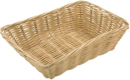 Paderno World Cuisine Rectangular Polyrattan Bread Basket, 9-Inch by 6-Inch