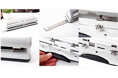 Amazon.com: chris-wang ajustable 4-hole perforadora de papel ...