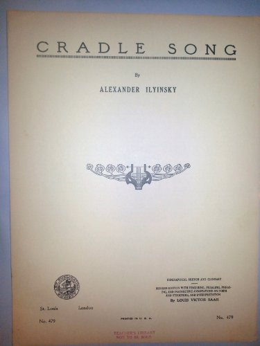 Cradle Song Vintage Piano Sheet Music 1935