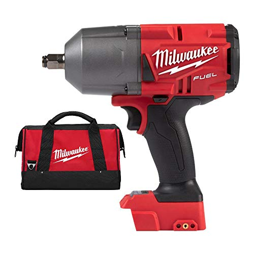 Milwaukee M18 Fuel High Torque 1 2 Impact Wrench with Friction Ring Bag Bundle 2 Items