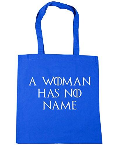 HippoWarehouse una mujer No Tiene Nombre Tote Compras Bolsa de playa 42cm x38cm, 10litros Azul Aciano