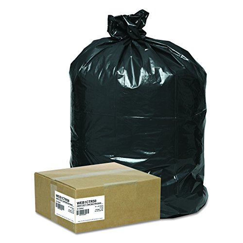 Handi-Bag WEB1CTR50 Super Value Pack Contractor Bags, 42gal, 2.5 Mil, 33 x 48 (Case of 50)