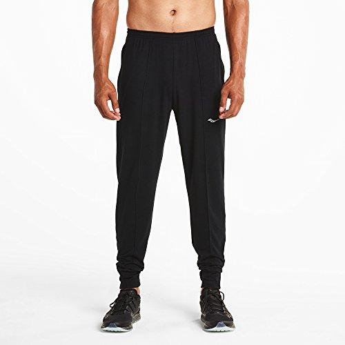 Saucony Men's Boston Pant, Medium, Black (Saucony Boston Running Pant)
