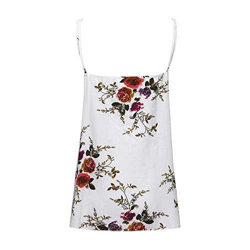 01e6b6dbcb72 Vickyleb Sexy Vest for Women Plus Size Summer Casual Printing Shirt  Sleeveless Shirts Lace V-