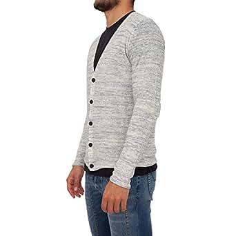 Antony Morato Sweaters For MEN L, Grey & White (MMSW00803-YA200044-7059)