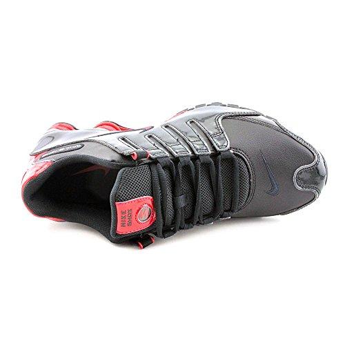 Nike Shox Nz Mens Svart / Gym Röd 378341-047 Kör Svart / Gym Röda Antracit