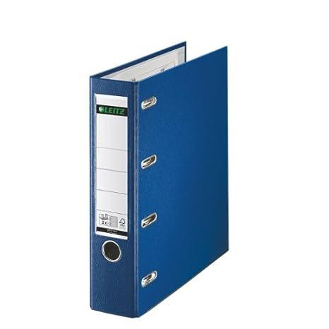 Leitz 1012-35 - Archivador de doble capacidad color azul: Amazon.es: Oficina y papelería