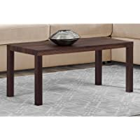 Mainstays Parsons Lightweight Coffee Table, 39L x 19W x 17.5H, Canyon Walnut