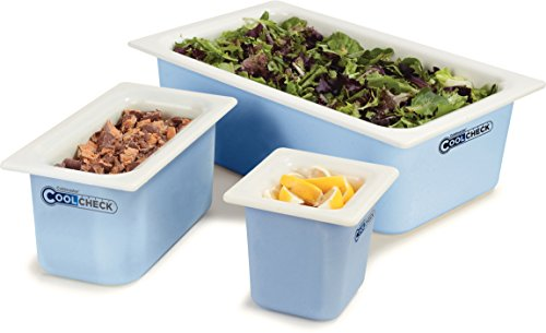 Carlisle CM1100C1402 Coldmaster CoolCheck 6'' Deep Full-Size Insulated Cold Food Pan, 15 Quart, Color Changing, White/Blue by Carlisle (Image #5)