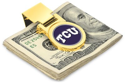 (TCU Horned Frogs Spring Loaded Money Clip)