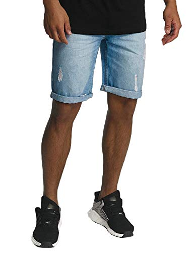 Rocawear Herren Jeans Relaxed Short FIT RWJS001LBLUD Light Wash