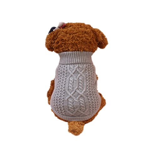 Aurorax Pet Dog Sweater For Small Dogs 2 Colours 3 Sizes Puppies (Gray, M) ()