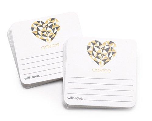 Hortense B. Hewitt 54848 Geo Heart - Advice Coaster - Pack of 25   B075VNC7HS