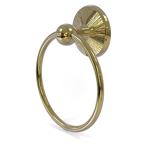- PMC-16-UNL Prestige Monte Carlo Collection Towel Ring, Unlacquered Brass