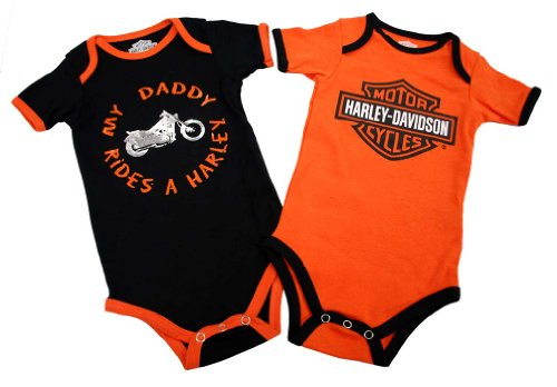 Harley-Davidson® Boy's Creeper. My Daddy Rides a Harley. 2-Pack. 3/6M (Toddler Boy Harley Davidson)