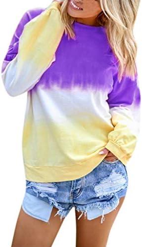 Luckycat 2019 Moda Mujer Camiseta Manga Larga Gradiente De Retazos Blusa Tops Cuello Redondo Suelto Primavera Y Verano Ropa Camiseta Talla Grande S-2XL: Amazon.es: Relojes