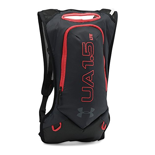 Under Armour Trail Hydration Pack, Black/Rocket Red, One Size