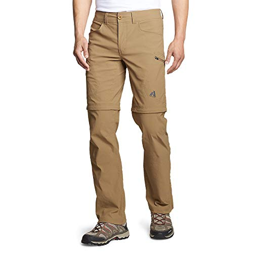 Eddie Bauer Men's Guide Pro Convertible Pants, Saddle Regular 32/30 (Eddie Bauer Pants)