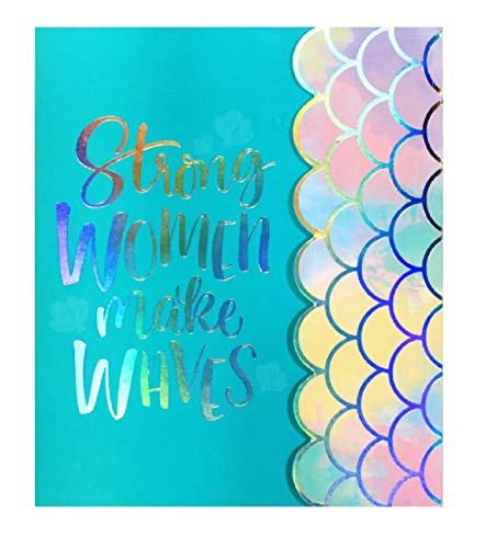 Strong Women Make Waves - Mermaid Design Stylish Journal Notebook (Diary Organize Lists School Work ()