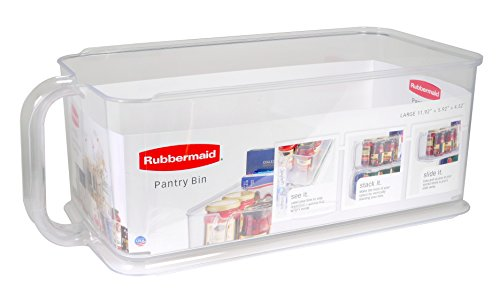 Rubbermaid Large Pantry Organizer Bin, Clear 1951587 ()