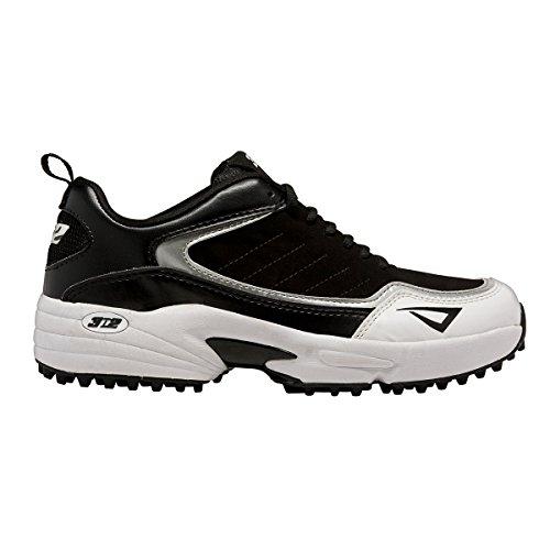 3N2 Viper Turf Baseball Equipment, Black, Size 12.5