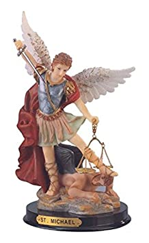 StealStreet SS-G-309.04 Saint Michael The Archangel Holy Figurine Religious Decoration, 9