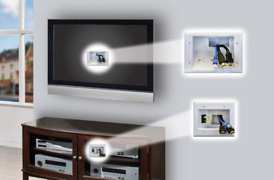 Cable Wall Plate Installation : Datacomm wh recessed pro power kit with duplex