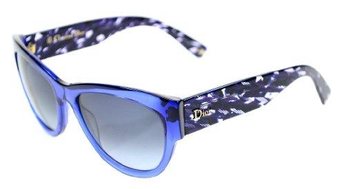 Christian Dior Flanelle 1/S Sunglasses Transparent Blue / Gray - Dior Womens Sunglasses 2012