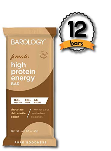 Barology High Protein Energy Bar for Women (Pack of 12) Yummy Chocolate Chip...