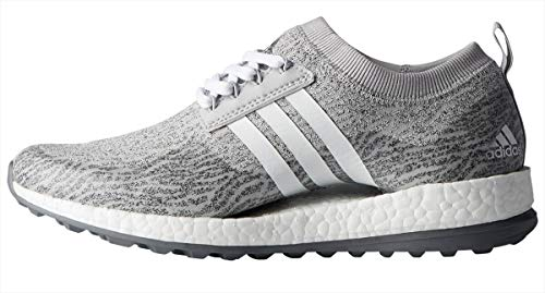 adidas Women's W Pure Boost xG Golf Shoe, Grey Two FTWR White/Night met. Fabric, 5.5 Medium US
