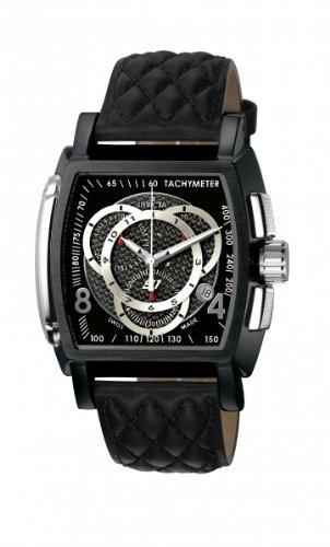 invicta 5401 - Reloj cronógrafo de cuarzo para hombre, correa de cuero color negro: Amazon.es: Relojes